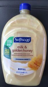 1 SoftSoap Milk & Golden Honey Liquid Hand Soap Refill Bottle 50 Fl.oz Soft Soap