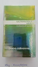 Ultraviolet Man Colours of Summer Paco Rabanne 100ml EDT Spray Mens Perfume Rare