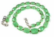 Natural Green Chrysoprase Faceted Pillows Beads Gemstone New Jewelry Ct 172 Sale