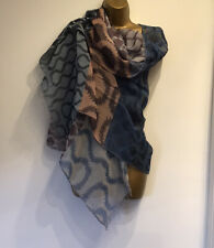 VIVIENNE WESTWOOD ICONIC SQUIGGLE PATTERN Cotton Large Scarf Shawl NEW With Tags