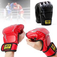 BOXING GYM HALF FINGER GLOVES MMA MUAY THAI TRAINING SANDA PUNCHING BAG GLOVES