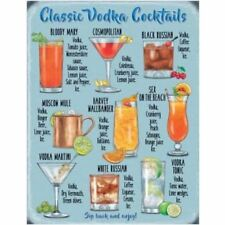 Classic Vodka Cocktails Mini Metal Wall Sign - The Original Metal Sign Co.