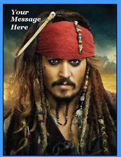 Pirates of the caribbean johhny depp Cake topper edible icing #855