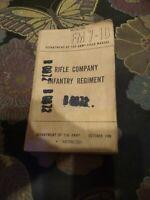 FM Rifle Company Infantry Regiment October 1949