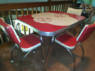 Mid Century Modern FORMICA KITCHEN TABLE Atomic Age Kitchen 3 Chairs