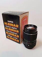 Vintage Super Albinar 135mm F.2.8 Auto Telephoto Coated Optics 2.8 Lens Canon AE