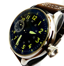 Gorgeous AVIATOR's 44mm PILOT's Hand Wind 6497 Vintage Style Army Military Watch