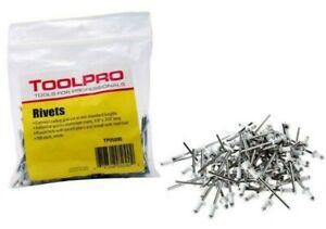Pro Tool 1/8 in White Aluminium Pull Rivet 100 Pc