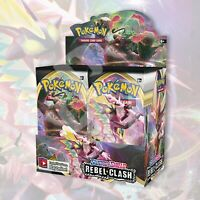 REBEL CLASH 1/2 Booster Box | 18 Packs FACTORY SEALED Pokemon