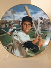 "Carl Yastrzemski ""Superstars of Baseball' plate w 24K rim and signature, w Coa"