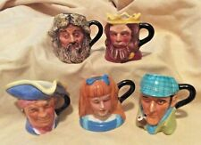 Franklin Mint Peter Jackson Mini Toby Mug Jug Alice Robinson Crusoe King Arthur
