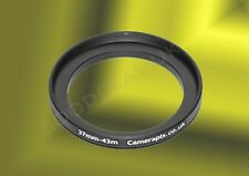 37mm to 43mm 37-43mm 37mm-43mm 37-43 mm Stepping Step Up Filter Ring Adapter UK