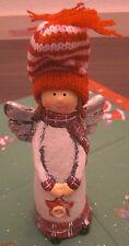 Weihnachten Engel Wollmütze Stern 15 x 7 cm Keramik Weihnachtsdeko Deko Neu