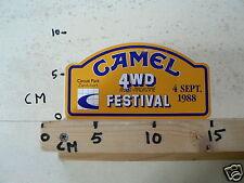 STICKER,DECAL CAMEL 4 WD FESTIVAL 4 SEPT 1988 CIRCUIT ZANDVOORT NOT 100 % OK