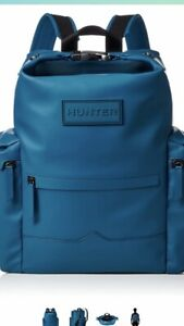 💙Hunter Large Blue Rubberised Backpack. BNWT.