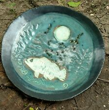Caracol Studio Pottery 1996 Janet Grabner Fish moon plate