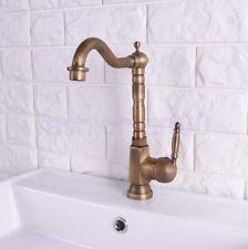 Vintage Antique Brass Swivel Kitchen Sink Bathroom Basin Mixer Tap Faucet fsf113