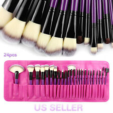 BeautyU&Me 24PCS Powder Foundation Cosmetic Makeup Brushes Set Eyeshadow Soft