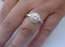 925 STERLING SILVER LADIES RING W/ 4 CTS DIAMOND/SIZE 5,6,7,8,9