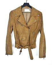 Walter Baker Women's Cognac Brown Buttery Soft Suede Moto Style Jacket Size M