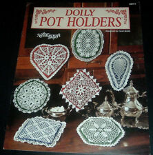 CROCHET DOILY POT HOLDERS ~ NEEDLECRAFT SHOP BOOKLET ~ 7 LACY PATTERNS~ FREE S/H
