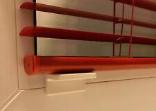 Elegante Magnethalter (2 Stück, weiß) - Klebemagnet für Jalousien-Unterleisten