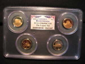 2009 S Lincoln 4 Coin Cent Set PCGS PR69DCAM Legacy Set