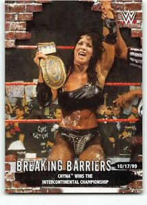 2020 Topps WWE Women's Division Breaking Barriers BB-4 Chyna Intercontinental