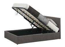 BEAUTIFUL QUALITY OTTOMAN GAS STORAGE BEDS WOOD FAUX LEATHER DIAMANTE FABRIC