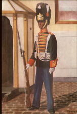 Dutch Netherlands Military Uniforms Garderegiment Grenadiers 1949 Postcard #4
