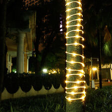 50/100LED Fairy String Rope Light Solar Power Controller Waterproof Outdoor Xmas