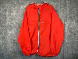 Kway Rainwear Windbreaker Mens Extra Large Red Vintage 90s V1