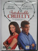 Intolerable Cruelty (DVD 2003) NEW SEALED Region 2 PAL
