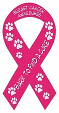 Pink Ribbon Shaped Magnets: Bark To Find Cure | Breast Cancer Awareness | Cars
