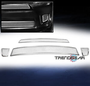 2007-2011 SCION XD FRONT UPPER + BUMPER STAINLESS STEEL MESH GRILLE INSERT COMBO