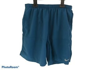 NIKE Running DRI-FIT Shorts Teal Blue Size M AG