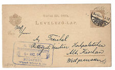 Hungary Postal Card - Budapest - March 6 1893, Used w/ Correspondence*