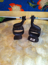 Hand Carved Africa Gazelle Napkin Holder (2)