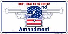 dont tread on my rights 2nd amendment License plate tag id lisence firearm gun
