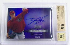 2012 Bowman Sterling Tyler Skaggs 5/10 Purple Refractors AUTO Graded BGS 9.5/10