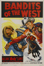 """Bandits of the West Allan """"Rocky"""" Lane western classic movie poster print 2"""