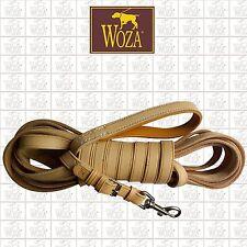 WOZA Premium Lederleine Trainingleine Schleppleine Vollleder handgenäht LS11881