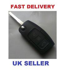 Ford 2006 on..Mondeo Fiesta  Focus Flip REMOTE KEY FOB CASE BLADE THREE BUTTON