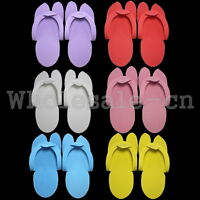 12 Pairs 24Pcs Disposable Soft Flip Flop Foam Slipper For Pedicure & Foot Spas