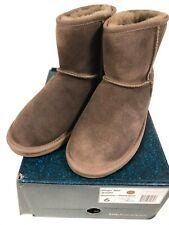 EMU Australia Stinger Mini Chestnut Suede Sheepskin Boots NEW size 6