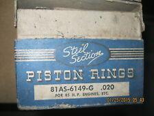 1932 1933 1934 1935 1936 Ford Piston Rings 85 H/P Flathead Aluminum Pistons .020