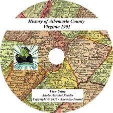 1901 History & Genealogy ALBEMARLE County Virginia VA - Ancestry Family CD DVD