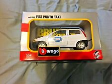 New, in Package, Bburago 1:24 Scale Die-Cast Fiat Punto Taxi Car