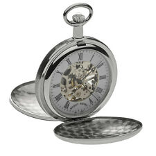 Mount Royal Chrome Plated Double Hunter Pocket Watch, Mechanical ref B28
