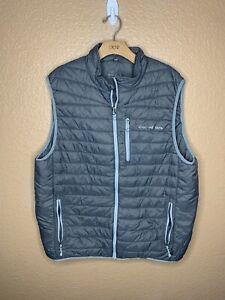 Vineyard Vines Puffer Vest Gray Men's XL Outerwear Jacket